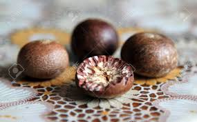 fruit and nut easter eggs ripe fruit of the betel tree areca catechu or areca nut palm stock