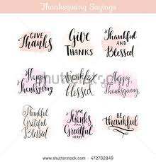 thanksgiving day sayings quotes creative stock vector