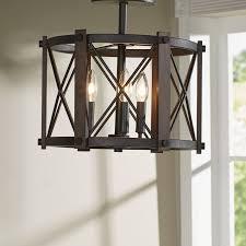semi flush mount foyer light trent austin design mancos 3 light semi flush mount reviews wayfair