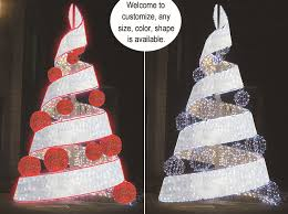 outdoor ribbon h 20ft outdoor decoration metal led lighted ribbon christmas tree