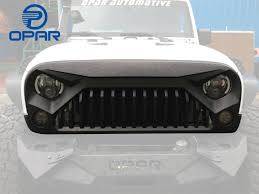 jeep grill logo vector amazon com opar matte black front gladiator vader grille for 2007