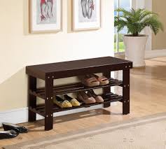 Solid Wood Entryway Storage Bench Furniture White Wooden Bench With Pull Out Sirage Shoe And White