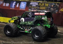 grave digger monster truck wallpaper chic on a shoestring decorating monster jam birthday party