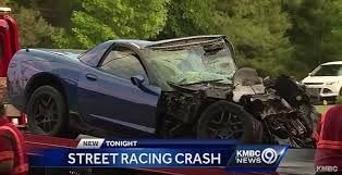 corvette crash c5 corvette z06 involved in racing blamed in fiery kansas