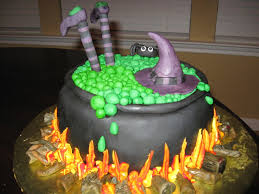 halloweenbubbling cauldron with witch cakecentral com