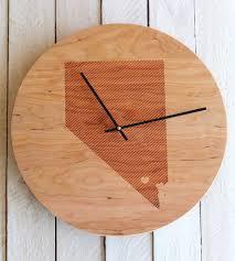 custom striped state wood clock home decor lighting richwood