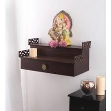 shilpi handcrafted wall mounted temple and wall shelf in sheesham temples spiritual home decor