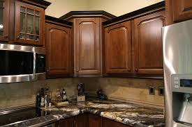 maple wood chestnut windham door upper corner kitchen cabinet