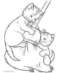 free farm animal coloring pages cat coloring page cat and kittens drinking milk cooking