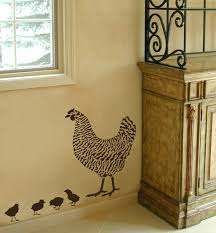 dominique chicken stencil 2 overlays easy wall decor with