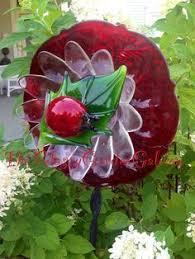 Ladybug Solar Garden Lights - solar floral windspinner ladybug flower lights up garden decor