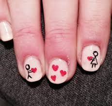 valentine u0027s day nail art pinned by sophia
