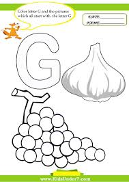 letter g preschool coloring pages