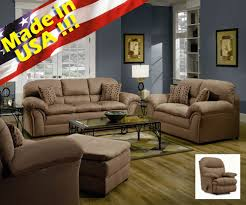 Microfiber Sofa And Loveseat Roundhill Furniture