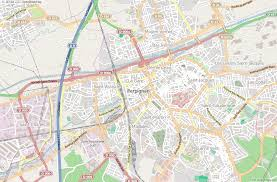 map of perpignan region perpignan map latitude longitude free maps