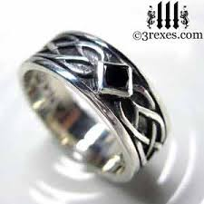 black silver rings images Celtic knot silver soul ring 925 sterling silver jpg