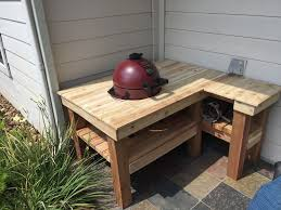 Diy Outdoor Sink Station by Inexpensive Strong Green Egg Table 4 Steps With Pictures