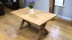 Extendable Dining Table Plans by Provence 1 5m Cross Leg Oak Table Youtube