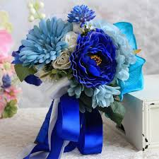wedding flowers royal blue janevini royal blue wedding bouquets 2018 artificial roses wedding