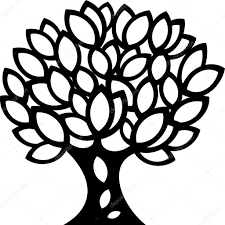 ornaments tree silhouette stock vector silverrose1