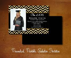Graduation Party Invitation Card Black And Gold Graduation Invitations Kawaiitheo Com