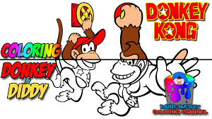 coloring donkey kong and diddy kong nintendo video games