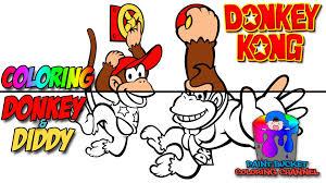 coloring donkey kong and diddy kong nintendo video games