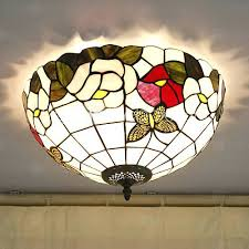stained glass ceiling light fixtures flush mount stained glass ceiling light fooru me