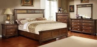cm7985 alcazar bedroom in brown cherry w options