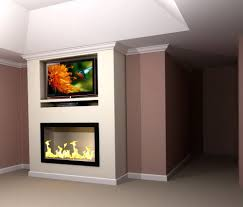 built in electric fireplace and tv design home design ideas