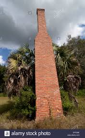 lone two story brick fireplace chimney is all that u0027s left of an
