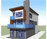 narrow lot house plan w1701 contemporary 3 floor house design for narrow lot