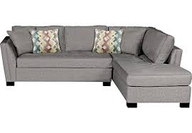 Grey Sofa With Chaise Cindy Crawford Home Calvin Heights Gray 2 Pc Sectional