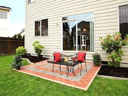 simple backyard patio designs trends including perfect paver ideas