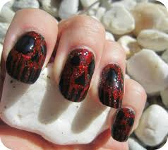 Scary Monsters Halloween Concrete And Nail Polish Scary Monster Nails