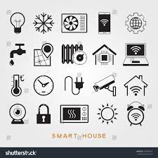 set smart house symbols vector icons stock vector 563894794