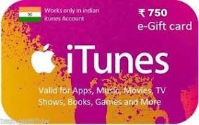 gift to india itunes gift card 750 rupees india itunes apple account ebay