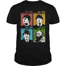 Beatles Yoda Meme - star wars yoda and the beatles all you need in love shirt hoodie
