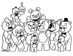fnaf 5 sister location coloring pages coloring