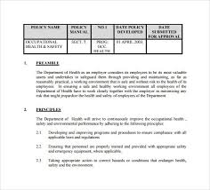 health and safety procedure manual 100 images health and