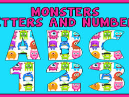 themed letters letters and numbers bundle 6 sets of alphabet letters and numbers