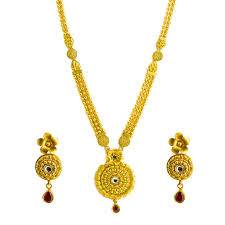 round gold necklace pendant images 22k yellow gold necklace earrings set w kundan matte finish jpg