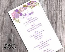 Diy Wedding Menu Cards Wedding Menu Template Diy Menu Card Template Editable Text Word