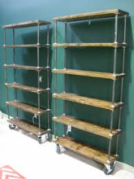 Black Pipe Bookshelf Rolling Black Pipe Bookcase Projects