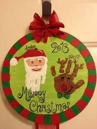 santa ornaments made from print in salt dough salt dough