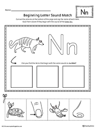 trace letter n and connect pictures worksheet myteachingstation com