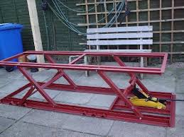 motorcycle lift table plans need plans for motorcycle lift cyclefish com metalworking ideas