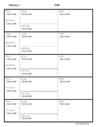 lesson plan template speech therapy therapy lesson plan template for weekly lessons fillable