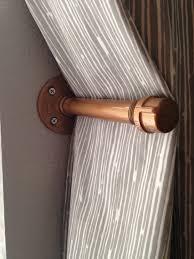 industrial pipe curtain tie back holdback pipe shelf