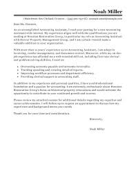 Sample Resume For Accountant by Best Accounting Assistant Cover Letter Examples Livecareer